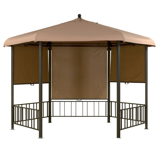 Regal Hexagonal Gazebo with Roller Blinds