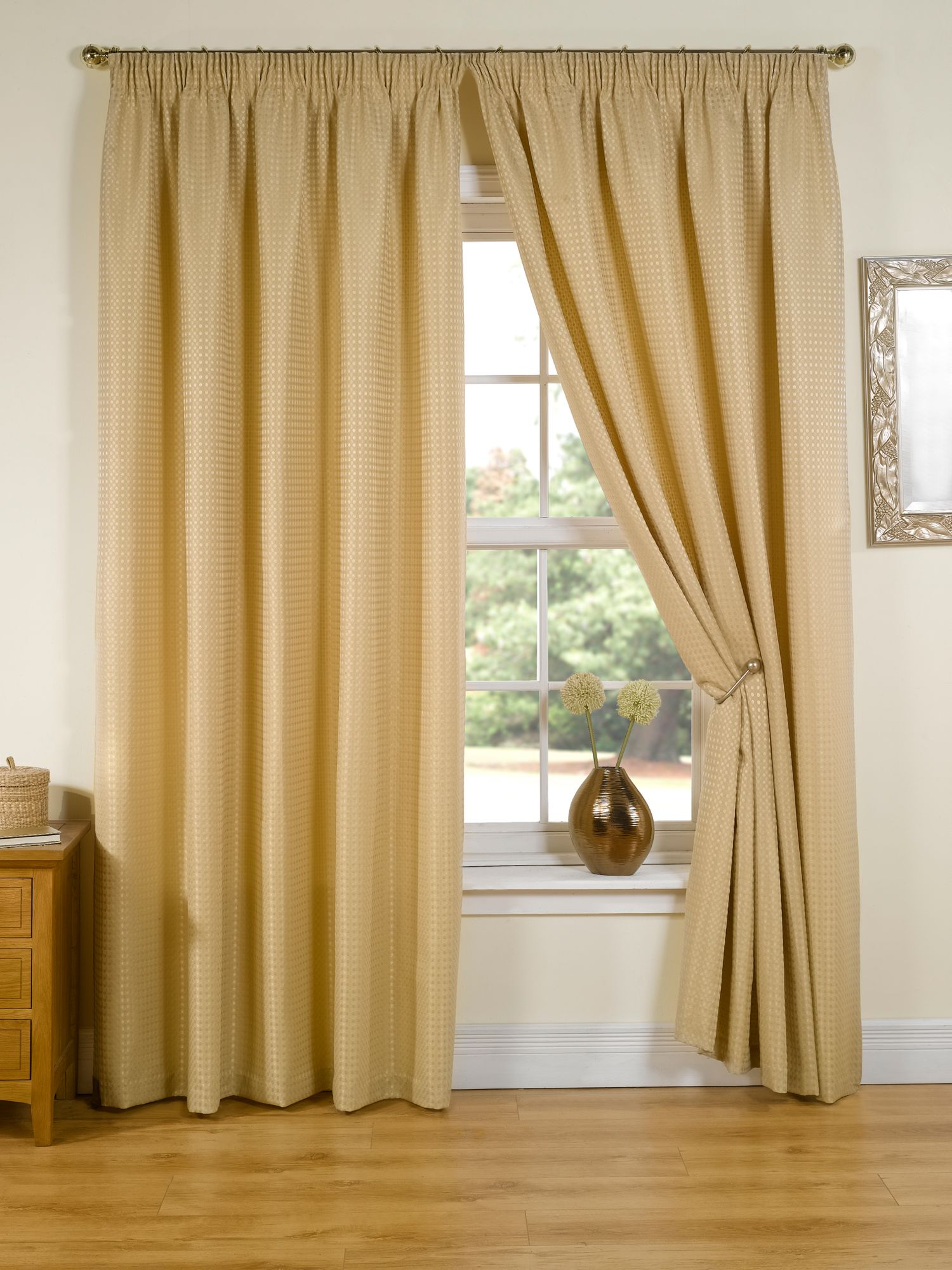 Dining Room Curtains Ideas Linea Regency Dot Gold Curtains 229x229cm