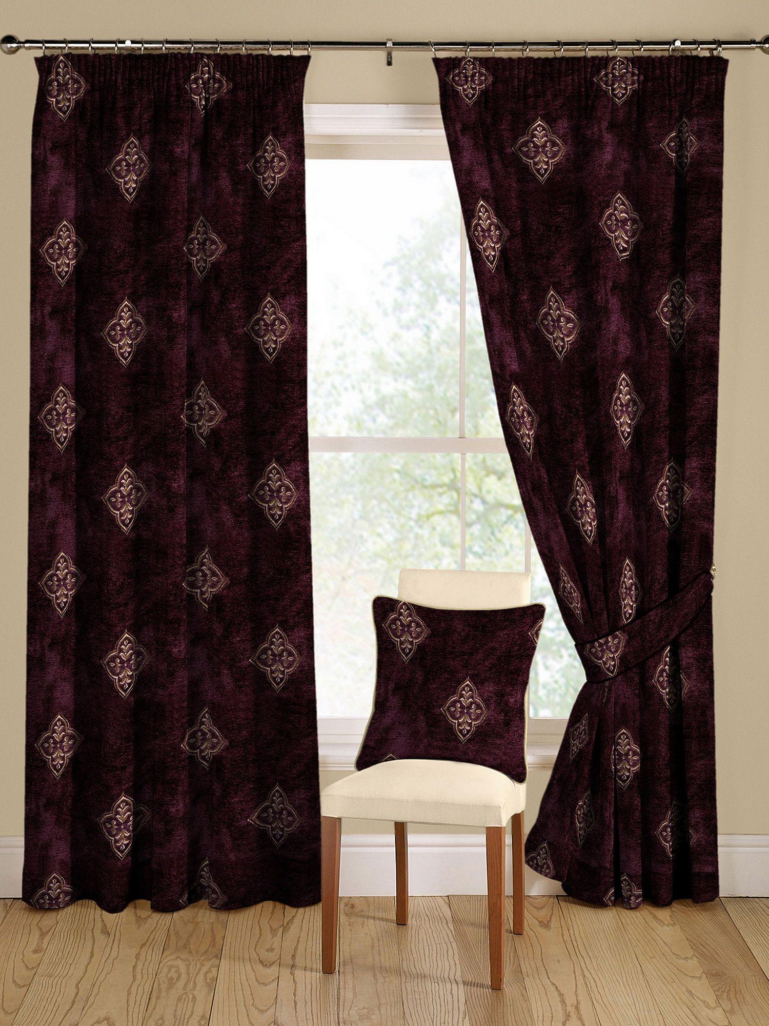 Montgomery Arcadia Aubergine Curtains 228cm X 182cm
