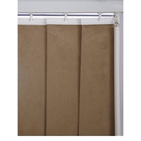 Vertical Faux Suede Blinds Head Rail, White
