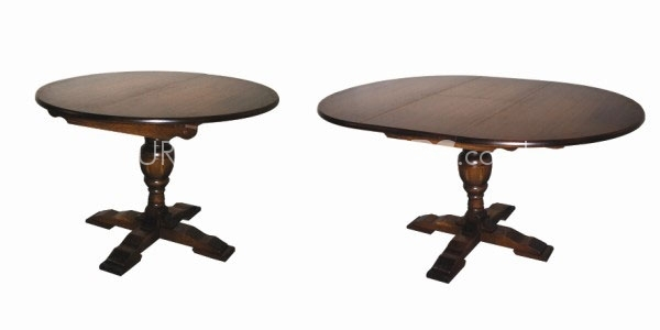 Furniture Link Olde Manor Oak Circular Extending Dining Table by Furniture Link