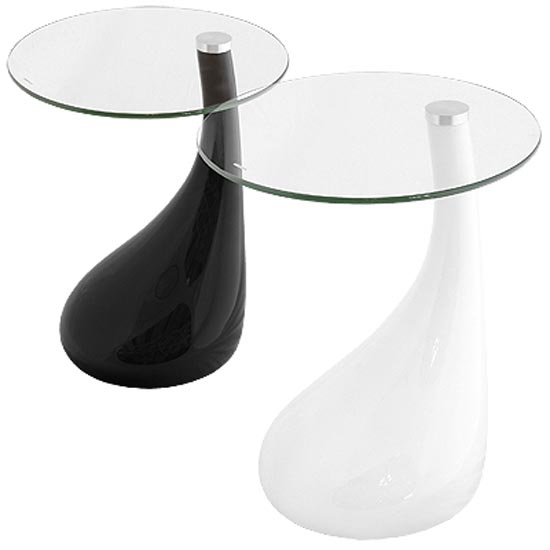 Nebula Glass Top Side Table