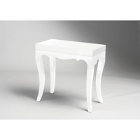 Roccoco Hi Gloss Accent Table White