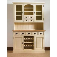 Mottisfont Painted Dresser With Built In Wine Rack (Blue, Pine, Metal)