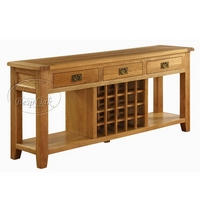 Vancouver 3 Drawer Console / Wine Table