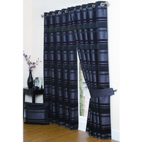 Alexis Aubergine Lined Eyelet Curtains