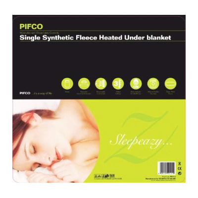Pifco PE111 Single Synthetic Fleece Heated Under Blanket