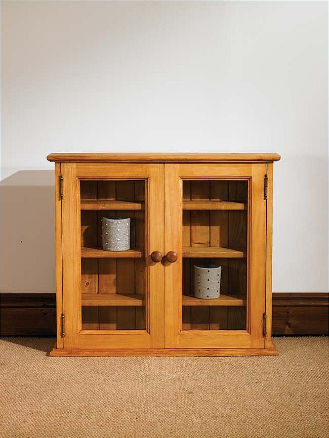 Mottisfont Waxed Large Display Cabinet