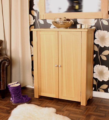 Aston Oak Extra Large Shoe Cupboard