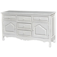 Shabby Chic MEADOW BUFFET LIGHT SIDEBOARD DOVE GREY, Light Grey