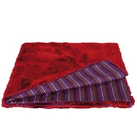 Sonia Rykiel Maison - Fantaisie Fur and Striped Throw - Red