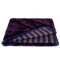 Sonia Rykiel Maison - Fantaisie Fur and Striped Throw - Purple and Blue