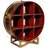 Belvadier - 4ft Drum Bookcase Stand (Brass)