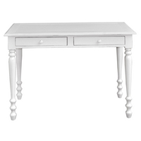Shabby Chic Meadow 2 drawer sofa table light grey, Light Grey