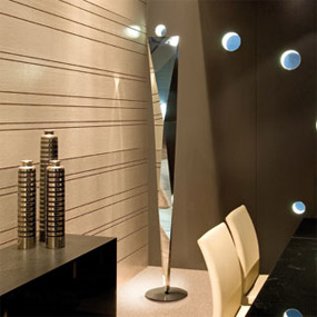 Vertigo Floor Lamp by Marco Acerbis Vertigo Floor Lamp- ⌀32 x 194cm Mirror Finish