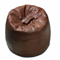 Mulberry Home - Leather Bean Bag - Chestnut