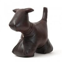 Wish. Original - Leather Dog Doorstop - Bark